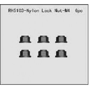 River Hobby Nylon Lock Nut M4 6pcs (ftx-fastm4) 5103
