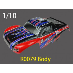 River Hobby DT5 Short Course Painted Body Red/Black (RH1018) r0079
