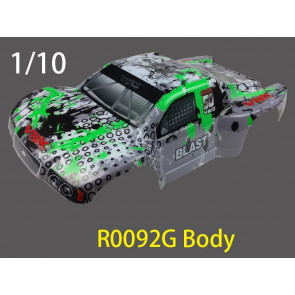 River Hobby DT5 Short Course Painted Body Green/Grey (RH1018) r0092