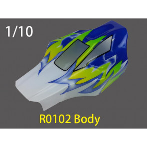 River Hobby 1/10 Painted Buggy Body Bullet (Blue) 1pc r0102