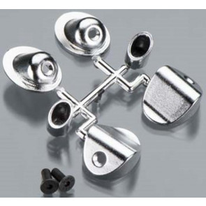 RPM Through-The-Body Mock Side Exhaust Tips Chrome 70293