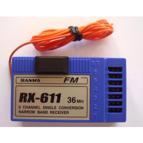 Sanwa 6 Channel Single Conversion Narrow Band Receiver rx-611 36