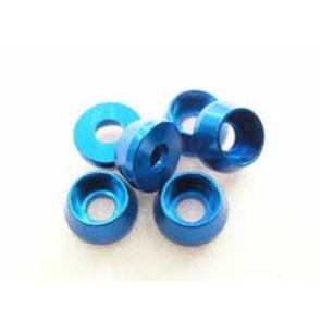 Team Magic 3mm Alum Cap Washer (6) Blue 111041b