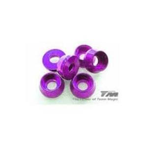Team Magic 3mm Alum Cap Washer (6) Purple 111041p