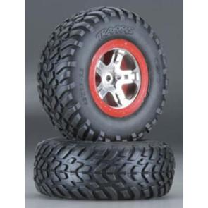 Traxxas S1 Ultra Soft Rear Tires on Chrome Slash (2) 5873r
