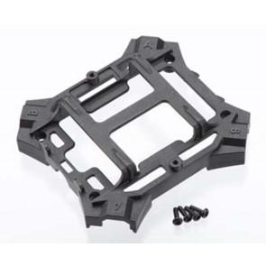 Traxxas Main Frame Lower/Screws Black Alias 6624