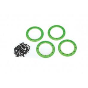 Traxxas Aluminum 2.2inch Beadlock Rings 4pcs Green 8168g
