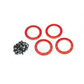 Traxxas Aluminum 2.2inch Beadlock Rings 4pcs Red 8168r