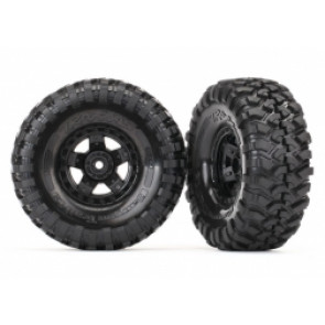Traxxas 1.9Inch Canyon Trail Tyres on Black Rims (2pc) 8179