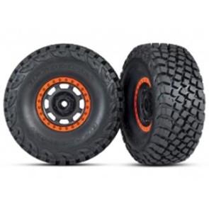Traxxas UDR BFGoodrich Baja KR3 Tires w/ Beadlock Black Orange Rim (2pc) 8472