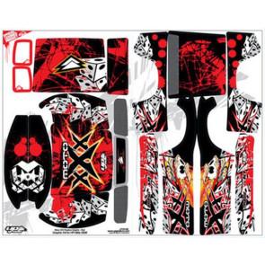 UpGrade R/C Moto XXX Graphic-Red Blitz Stock Body 6401