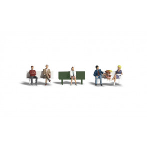 Woodland Scenics Bus Stop People HO-Scale a1861