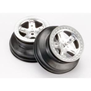 Traxxas Wheels Satin Chrome Rear Slash 5872