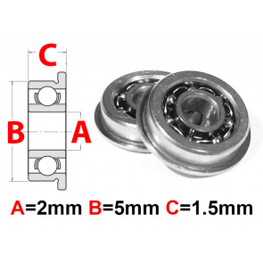 AT Flanged Bearing 2x5x1.5mm Open (F682) (1pc)