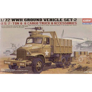 Academy 1/72 US Cargo Truck And Accessories 13402