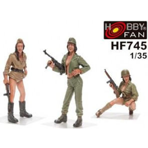 AFV Club Military Girls Pin-up 3 Figures HF745
