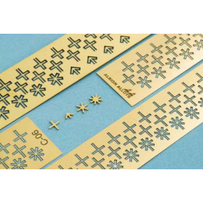 ALBION SHAPES 1.3mm CROSS+ARROW+STAR6+STAR8 C13