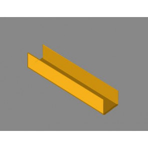 Albion Alloys Brass Channel C 1 x 3mm (1pcs) alb-cc1