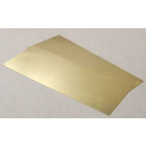 Albion Alloys Brass Sheet 0.12 x 100 x 250mm (2pcs) alb-sm1m