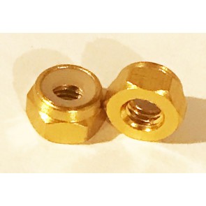 AT Alloy Lock Nut M2 Gold 2mm (6pc)