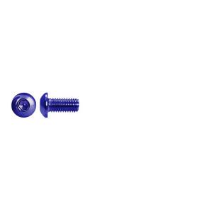 AT BHCSM3X6 (6pc) Blue Alloy button head cap screw metric M3x6mm (DIN7380)