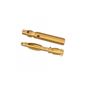 AT e3001 bullet connector gold plated m/f 3.0mm