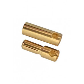 AT e3004 bullet connector gold plated m/f 5.0mm