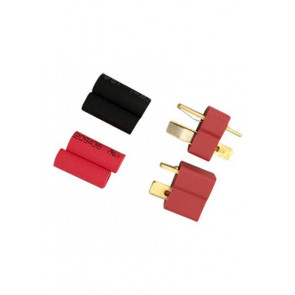 AT e3006 Deans Plugs W/Heatshrink F/M (1pr)
