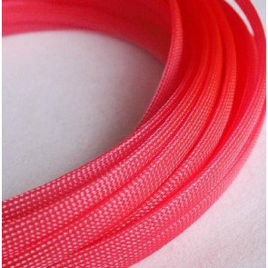 AT at-e4628 Expandable Braided Sleeving (W6mmx200mm) Red