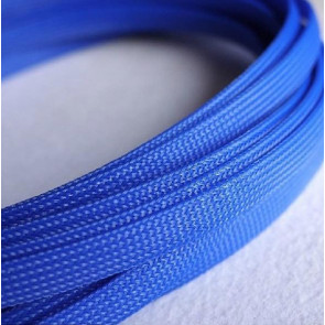 AT at-e4637 Expandable Braided Sleeving (W8mmx200mm) Blue
