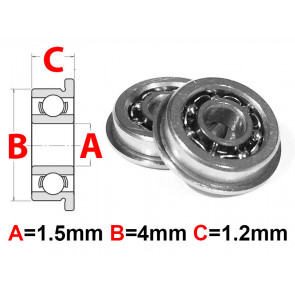 AT Flanged Bearing 1.5x4x1.2mm Open (F681X) (1pc)