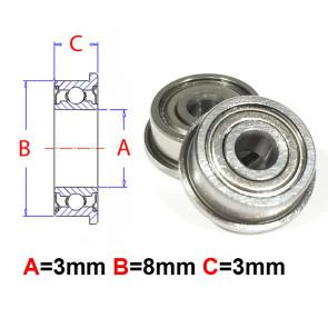 AT Flanged Bearing 3X8X3mm Metal Shields (MF83ZZ) (1pc)