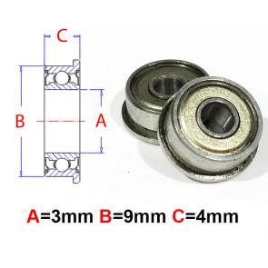 AT Flanged Bearing 3x9x4mm Metal Shields (MF93ZZ) (1pc)
