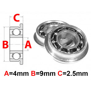 AT Flanged Bearing 4x9x2.5mm Open (F684) (1pc)