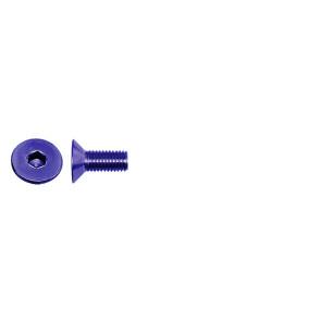 AT FHCSM3X6 (6pc) Blue Alloy flat head (countersunk) cap screw metric (Din7991)