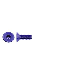 AT FHCSM3X8 (6pc) Blue Alloy flat head (countersunk) cap screw metric (Din7991)