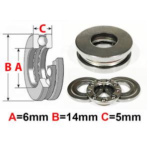 AT Thrust Bearing 6X14X5mm (F6-14M) (1pc)