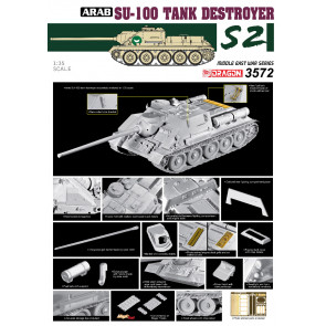 Dragon 1/35 Egyptian Su-100 Tank Destroyer- The Six Day War 3572