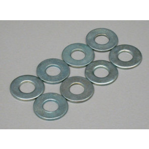 Dubro Flat Washers 4mm (8) 2110