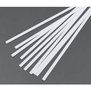 Evergreen Strips Styrene Plastic .010x.156Inch (0.25x4x355mm) (10pc) 107