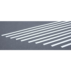 Evergreen Strips Styrene Plastic .010x.188Inch (0.25x4.8x355mm) (10pc) 108