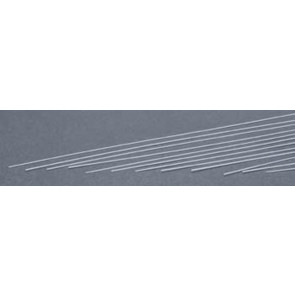 Evergreen Strips Styrene Plastic .015x.020Inch (0.4x0.5x355mm) (10pc) 110