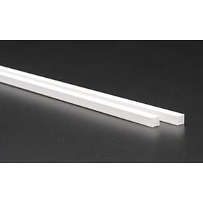 Evergreen Tube Square Styrene Plastic .250Inch (6.3x6.3x355mm) (2pc) 254