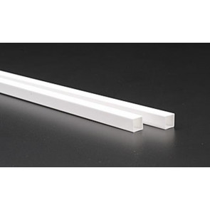 Evergreen Tube Square Styrene Plastic .375Inch (9.5x9.5x355mm) (2pc) 256