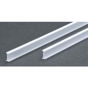 Evergreen I Beam Styrene Plastic .250Inch (6.4x355mm) (3pc) 277