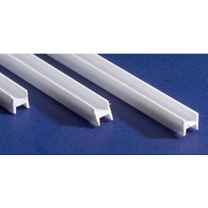 Evergreen H Column Styrene Plastic .125Inch (3.2x355mm) (3pc) 284