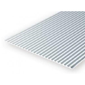 Evergreen Metal Siding Styrene Plastic .040inch (1mm) spacing 1mm thick 12x6inch (152x305mm) (1pc) 4526