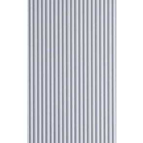 Evergreen Metal Siding Styrene Plastic .080inch (2mm) spacing 1mm thick 12x6inch (152x305mm) (1pc) 4528