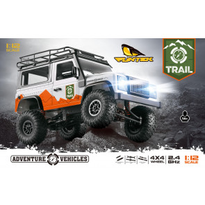 Funtek 1/12Th 4Wd 2.4Ghz Ready To Run Trail Rock Crawler Trail