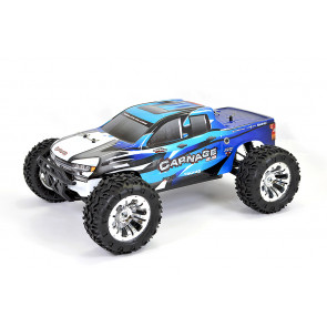 FTX 1/10 Carnage Blue Brushed Truck w/batt & charger 5537b